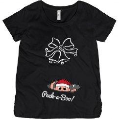 Peek a Boo Christmas Maternity Top