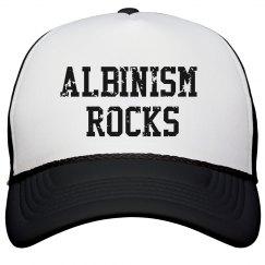 Albinism Rocks- Distressed Trucker Hat