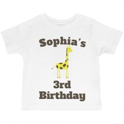 Sophia's 3rd birthday