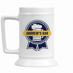 Andrew's Bar Beer Mug