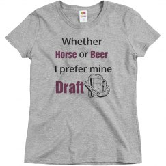 I take mine draft