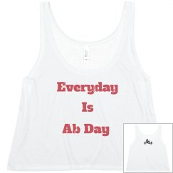 Everyday is Ab Day Distressed