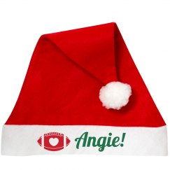 Cute Football Christmas Hat With Custom Name