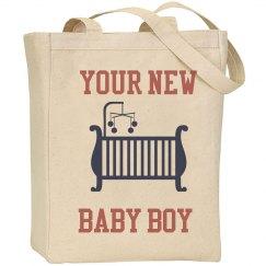 New Baby Boy Tote Bag