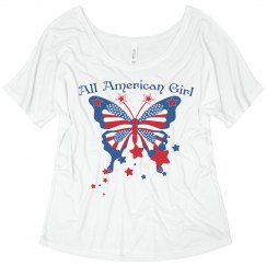 All American Girl Butterfly Tee