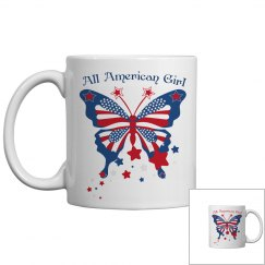 All American Girl Butterfly Mug