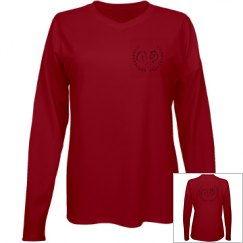 The Gallop To Greatness Logo Tee Long Sleeve V Neck
