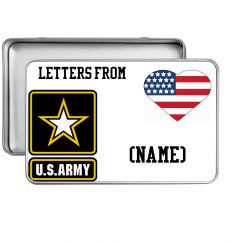 for military letters/ keep sake