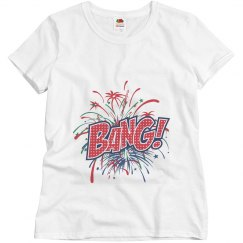 Fireworks Maternity Shirt