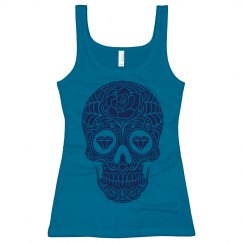 Blue Diamond Sugar Skull