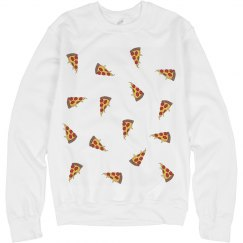Pizza Pattern Crewneck