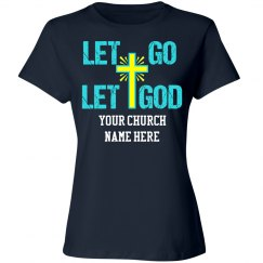 Let Go Let God Christian Cross