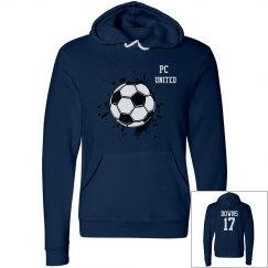 Navy Soccer Hoodie