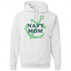 Navy Mom Hoodie