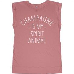 Champagne Spirit Animal Metallic