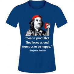 Ben Franklin Beer Tee
