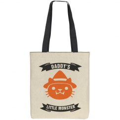 Daddy's Little Monster Tote Bag