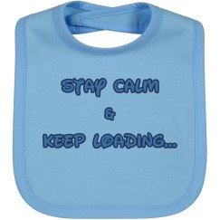 Stay Calm Boy Bib