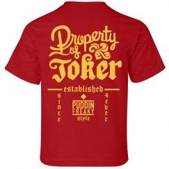 Property Of Joker Kids Shirt