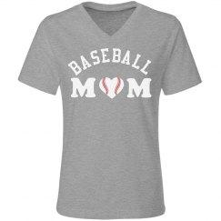 Lt Gray Baseball Mom