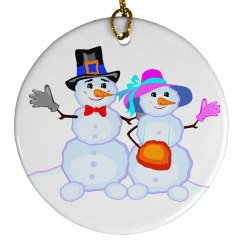 Mr. and Mrs. Snowman