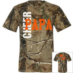 Cheer PaPa Short Sleeve Camo T