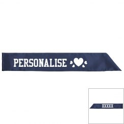 Personalise your own sash