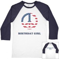 4th of July Birthday girl