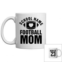 A Custom Coffee Gift Mug for A Football Mom