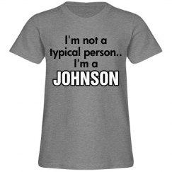 I'm a Johnson!