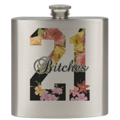 21 Bitches Flower Flask