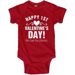 Custom First Valentine's Day Onesie