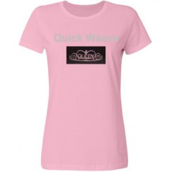 Pink Bling Quick Weave T