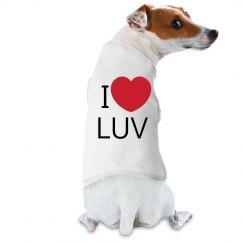 Cute puppy I love love shirt