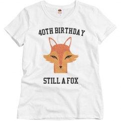 40th birthday still a fox
