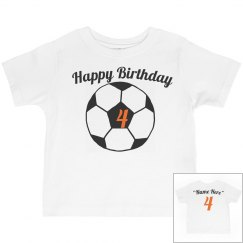 Soccer theme 4th birthday
