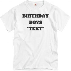 Customize birthday tee