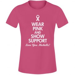 Pink Breast Cancer Shirts With Custom Name