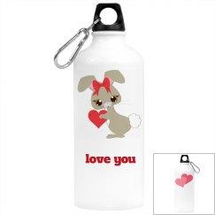 Love you beverage bottle