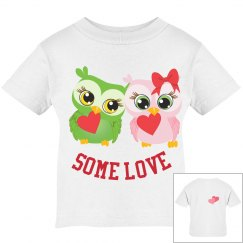 Twin Owl Love baby Tee