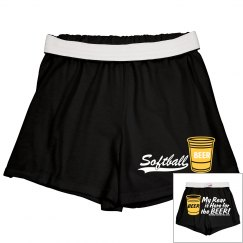 Lady Softball/BEER Shorts