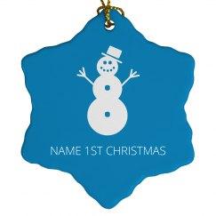 1st Christmas Snowman