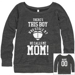 Trendy Cute Football Mom Custom Sweaters