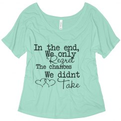 Mint quote flowy shirt