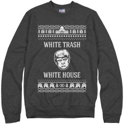 Trump White Trash White House Ugly Christmas Sweater