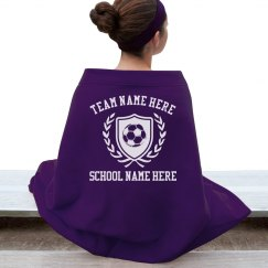 Custom Soccer Team Blanket
