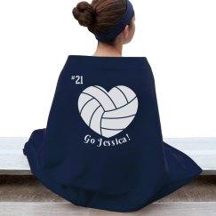 Custom Volleyball Blanket
