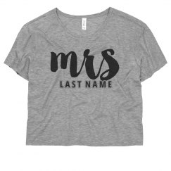 Custom Mrs Crop Top
