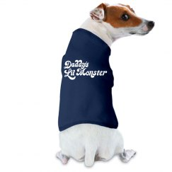 Daddy's little monster dog tank top