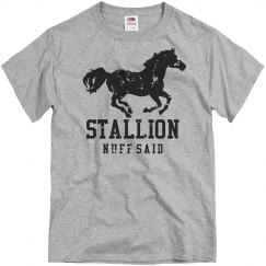 I'm A Stallion Stud Distressed